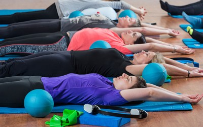 Pilates group classes enjoying a well deserved rest in Full body Stretch