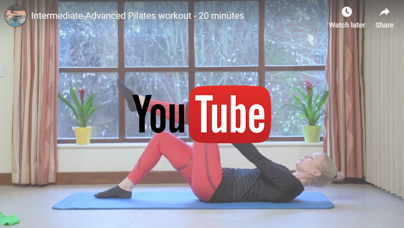 VIDEO – Intermediate-Advanced Pilates workout – 20 minutes